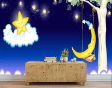 Fairy Bright Moon 3D Full Wall Mural Photo Wallpaper Printing Home Kids Decor