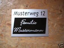 Hausnummer-Namensschild-Klingelschild-Dibond edelstahlo