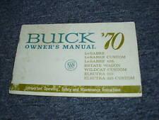 1970 BUICK LESABRE WILDCAT ELECTRA 225 OWNERS MANUAL