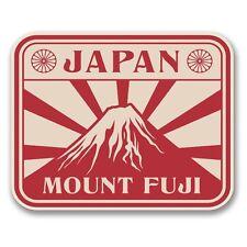 2 x Japan Mount Fuji Vinyl Sticker Laptop Travel Luggage Car #6391