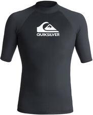Wassersport Shirt Lycra QUIKSILVER RAZORS Surf Shirt Lycra 2019 black T-shirt
