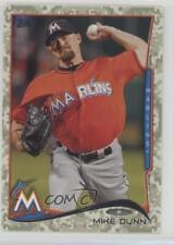 2014 Topps Update Series Camo #US-119 Mike Dunn Miami Marlins Baseball Card