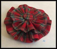 Tartan Rosette Brooch Pin Badge Royal Stewart Sash Watch Burns Night Scottish