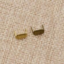 Leather Staples Leathercraft Craft Tool Dressmaking Brass Loops Fastener Holders