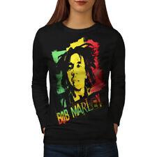 Marley Cannabis Bob Rasta Women Long Sleeve T-shirt NEW | Wellcoda