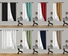 1P SOLID PANEL WINDOW BRONZE GROMMET CURTAIN ROOM DARKENING FOAM LINED BLACKOUT