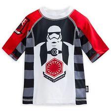 Disney Store Star Wars Rash Guard Swim Shirt Boy Size 7/8 9/10