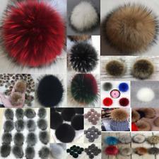 29810add5 Wholesale Pack of 12 Doublel Faux Fur Pom-pom Bobble on Single ...