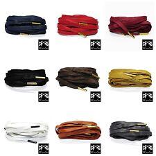 Premium Wax Flat Shoe laces for Air Jordan/AJ/EQT/Asics/Ultra Boost/Dunk SB/Y-3