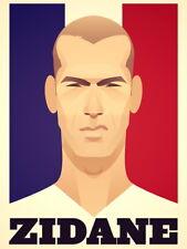 Zinedine Zidane Portrait Soccer Football Art Huge Giant Print POSTER Plakat