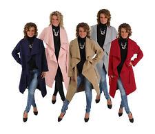 Damen Mantel Lang Übergang Jacke Umhang Überwurf Winter Herbstmantel Gürtel