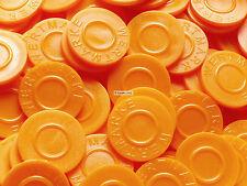 Wertmarken, Getränkemarken, Biermarken, Pfandmarken, Pfand, Event   Farbe:orange
