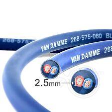 Van Damme professional Blue series studio grade 2 x 2,5 mm Câble haut-parleur