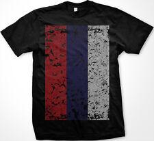 Russia Russian Россия Rossiya Flag Oversized Distressed New Men's T-shirt