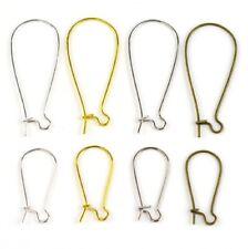 3 Sizes Kidney Earring Hooks Blanks Clasps Wire Jewellery Findings Fittings DIY