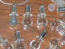 1 small tiny Glass vial Crystal Ball Pendant bottles