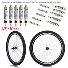 Bicycle Bike Tire Tyre Presta valve Core  French Air Pump  Silver Detachable