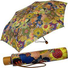 OILILY Mujer Paraguas de Bolsillo Pequeño Ligero Colorida CON FUNDA