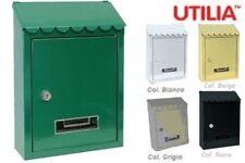 Cassetta postale per posta CAPRI cm 21 x 6 x 30 h BIANCA/VERDE/GRIGIA/BEIGE/NERA