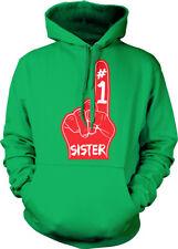 #1 Sister Number One Red Foam Finger Best Greatest World Love Hoodie Sweatshirt