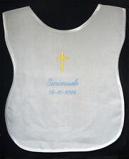 Veste battesimale personalizzata camicina lino ricamo nome + data battesimo