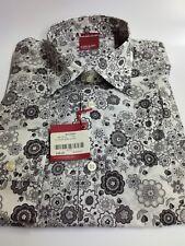 NEU Langarm Gibson Shirt Blume Biba 100% Baumwolle RRP £ 58.95