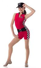 Finish Line Dance Costume Biketard Unitard Racing Team Clearance Child & Adult