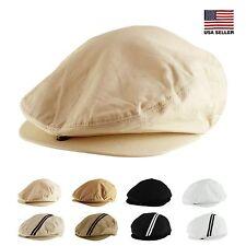 Mens Womens Unisex Spring Summer Mesh Gatsby Golf Cotton Newsboy Cabbie Cap Hat