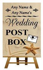 Beach Sand Wedding Post Box Personalised Wedding Sign / Poster