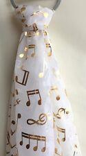 BEAUTIFUL MUSIC NOTE Sciarpa Con Color Oro foglio di stampa