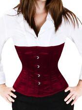 Taillenkorsett Schnür Korsett Bordeaux Rot Corsage Mieder Bodyshaper Gothic