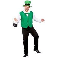 Costume Carnevale Uomo Da Folletto Irlandese Vestito Travestimento Elfo  Adulto 82ea1a9c79b7