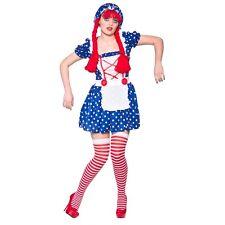 Damas de cuento de hadas Lindo Muñeca De Trapo Disfraz para hacer creer Cuento De Hadas Vestido de fantasía