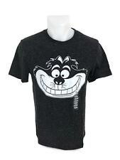 Disney Alice In Wonderland Chesire Cat Grin Men's Gray Speckled Heather T-Shirt