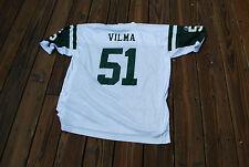 NY Jets white Jonathan Vilma adult XL jersey Reebok NFL Equipment