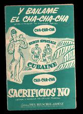 Y bailame el cha-cha-cha combo accordéon trombone guitare trompette 1955 Ariza