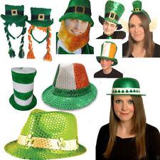 New Unisex Green St Patrick Day Irish Bowler Hat  Valour Sequin Triblly Hats