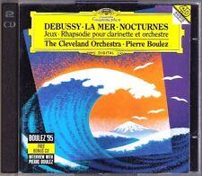 BOULEZ: DEBUSSY La Mer Nocturnes Jeux + Interview 2CD Premiere Rhapsodie Pierre