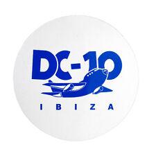 OFFICIAL DC10 Ibiza Large Airplane White Logo Club Sticker RRP £6.00
