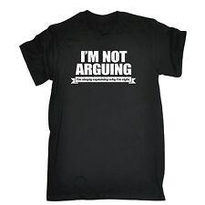 Simplemente explicando por qué Im derecho T-shirt broma sarcasmo Top Gracioso Regalo Padres Día