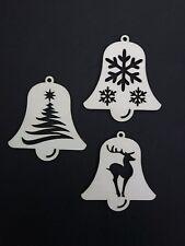 Glocken Set aus Holz Deko Bastelmaterial Bastelholz Weihnachten Winter 3 Stück