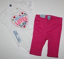 baby Gap NWT Girl Outfit Set Auntie Loves Me Bodysuit Top + Capri Pant