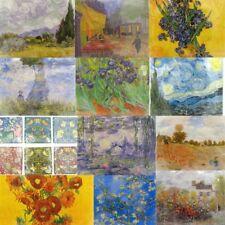 20pc Printed Napkin Paper Napkin Serviettes Artist Monet Van Gogh William Morris
