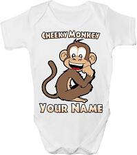 Cheeky Monkey personalizzata Baby Gilet / Gro / BODY - ** grande con nome regalo **