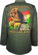 King of Kings Haile Selassie Rastafari Full Sleeve Shacket Jacket Collared Shirt