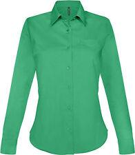 Chemise femme manches longues kelly green Kariban - K549