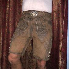 Herren Trachten Lederhosen bayrische Lederhosen kurze Hose mit Gürtel Gr. 46-64