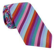 Michelsons di London STRISCIA DI CORSA Cravatta di seta