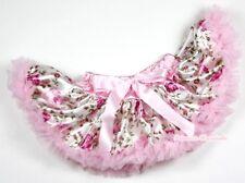 Light Pink Floral Rose Newborn Baby Pettiskirt Dance Tutu Skirt Girl Dress 3-12M