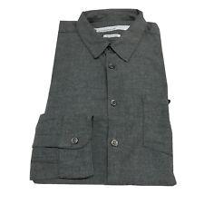 DEPARTMENT 5 camicia uomo flanella grigio 100 %cotone MADE IN ITALY